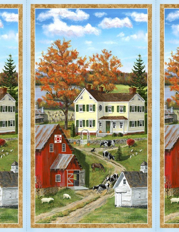 Autumn Grove, Fabric Panel 24in by Bob Fair for Wilmington Prints : 72264-743