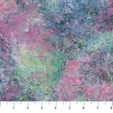 Stonehenge 108 Wide Fabric, Tourmaline by Linda Ludovico for Northcott : B3934-1