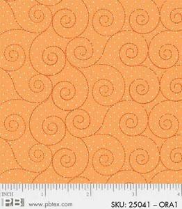 Basically Hugs, Orange by P&B Textiles 4486 25041