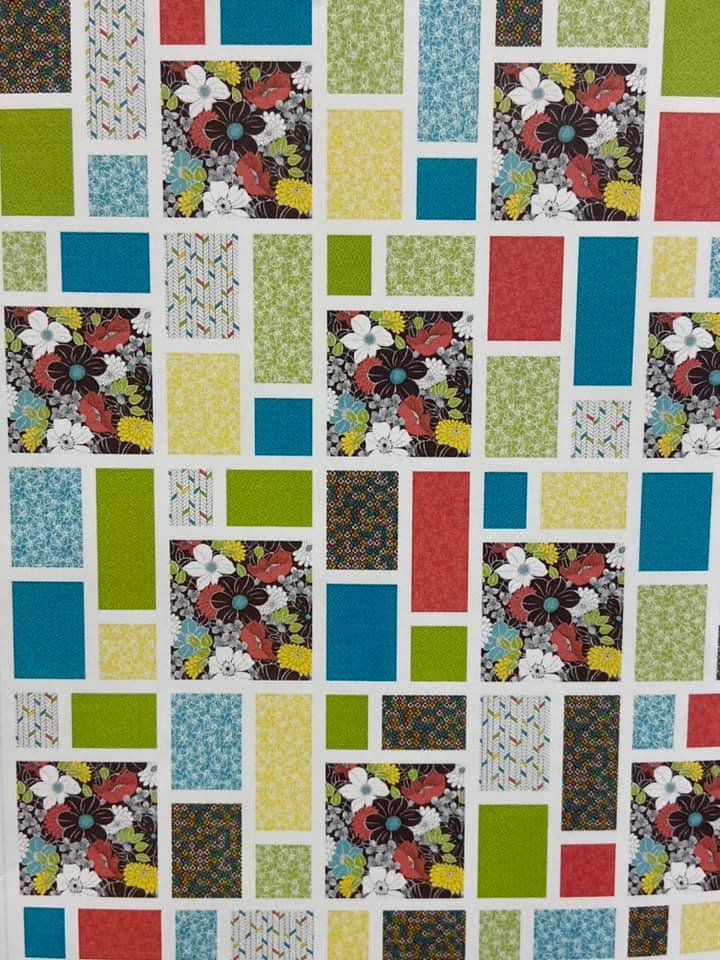 Beach Glass Bark Quilt Kit featuring Lexi fabrics by QT Fabrics KIT3853D