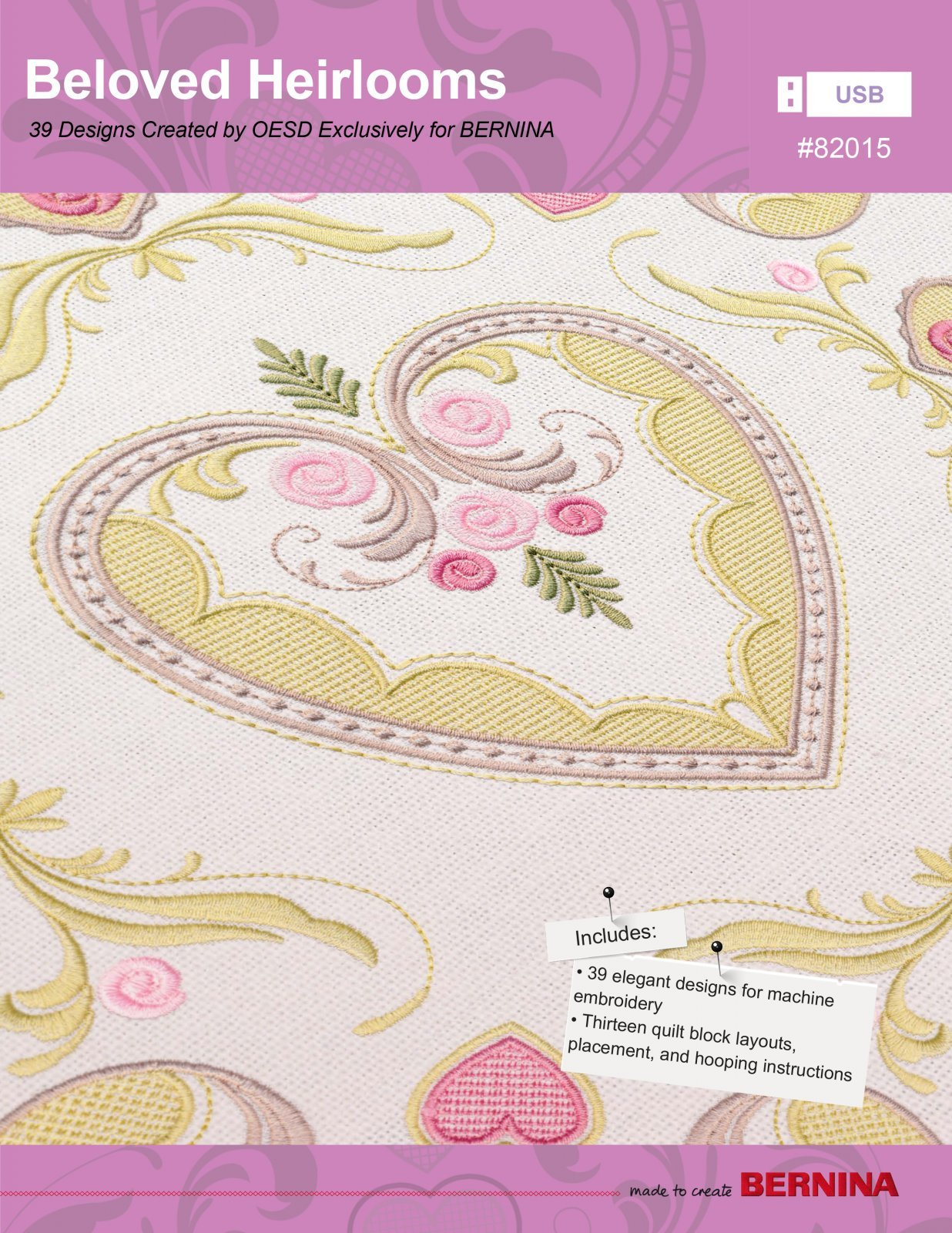 Beloved Heirlooms, Machine Embroidery Pattern by OESD : 82015