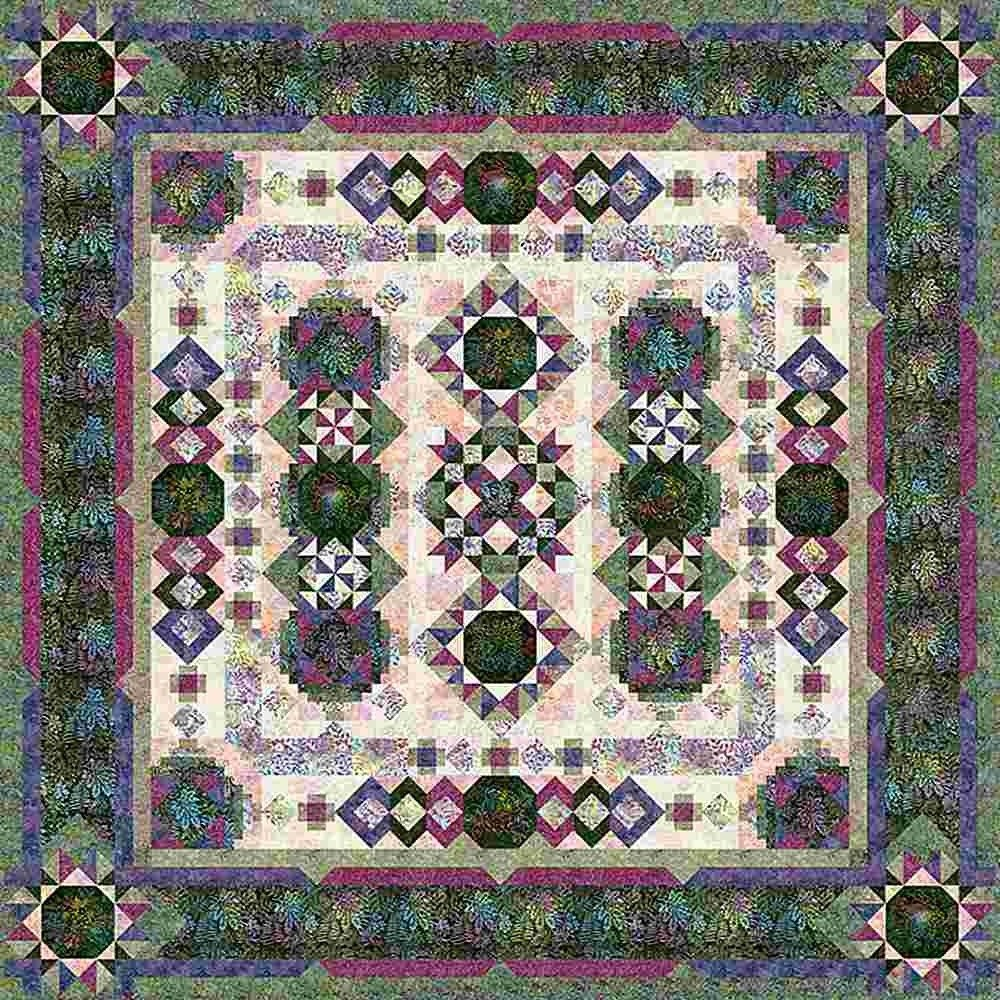 Blooming Fields Block of the Month or All At Once Kit by Wing and A Prayer and Timeless Treasures