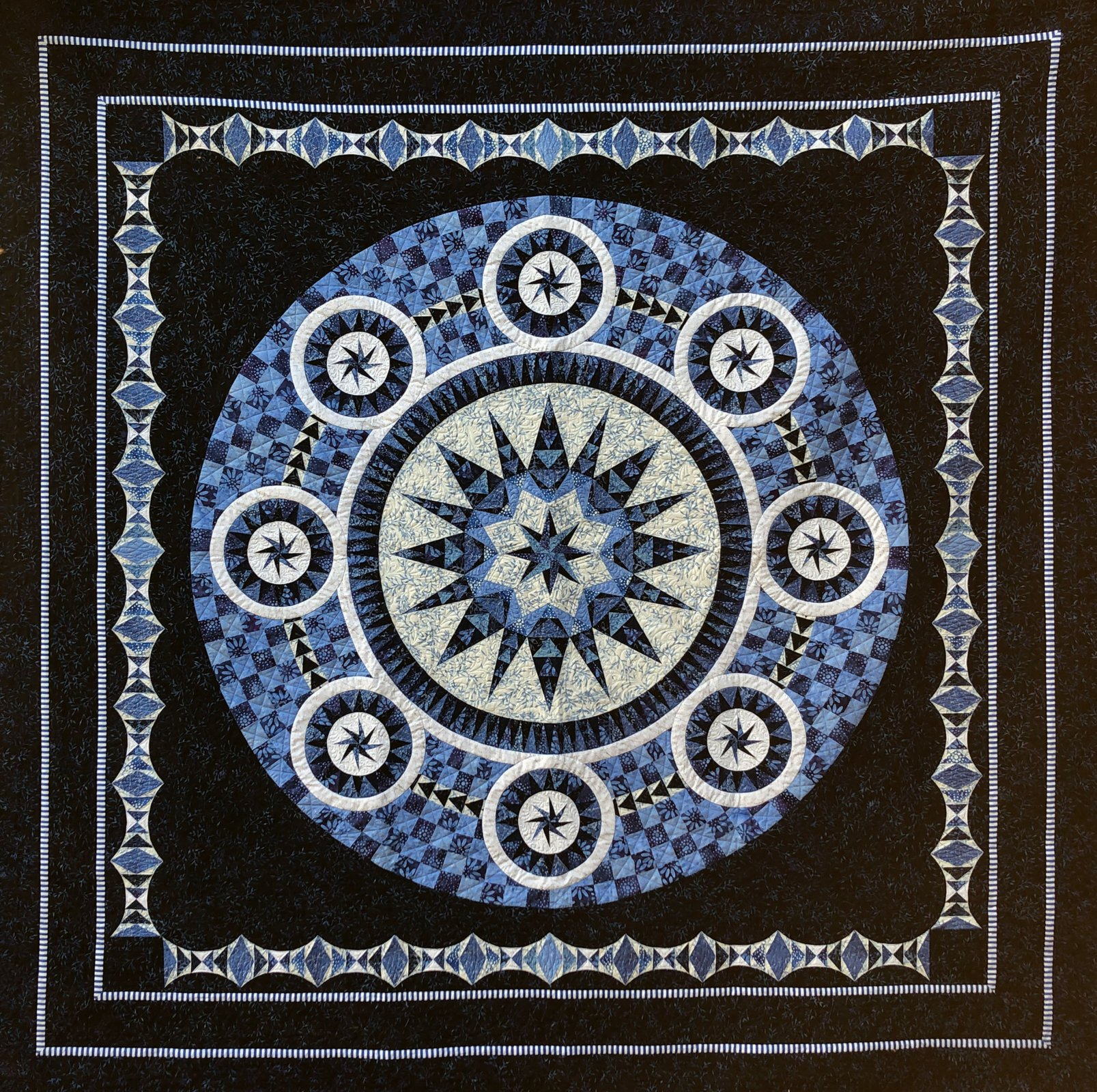 Bluetiful quilt kit by Jacqueline de Jonge, BeColourful for Anthology Fabrics 52580QK