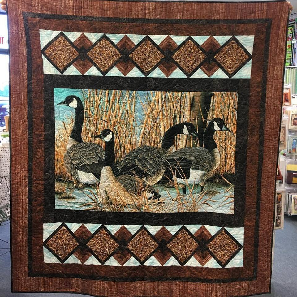 Naturescape - Canada Goose by Northcott and the Fabric Addict