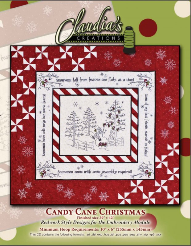 Candy Cane Christmas by Claudia's Creations : 82504-60986