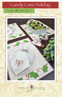 Candy Cane Holiday machine embroidery by Amelie Scott Designs ASD228