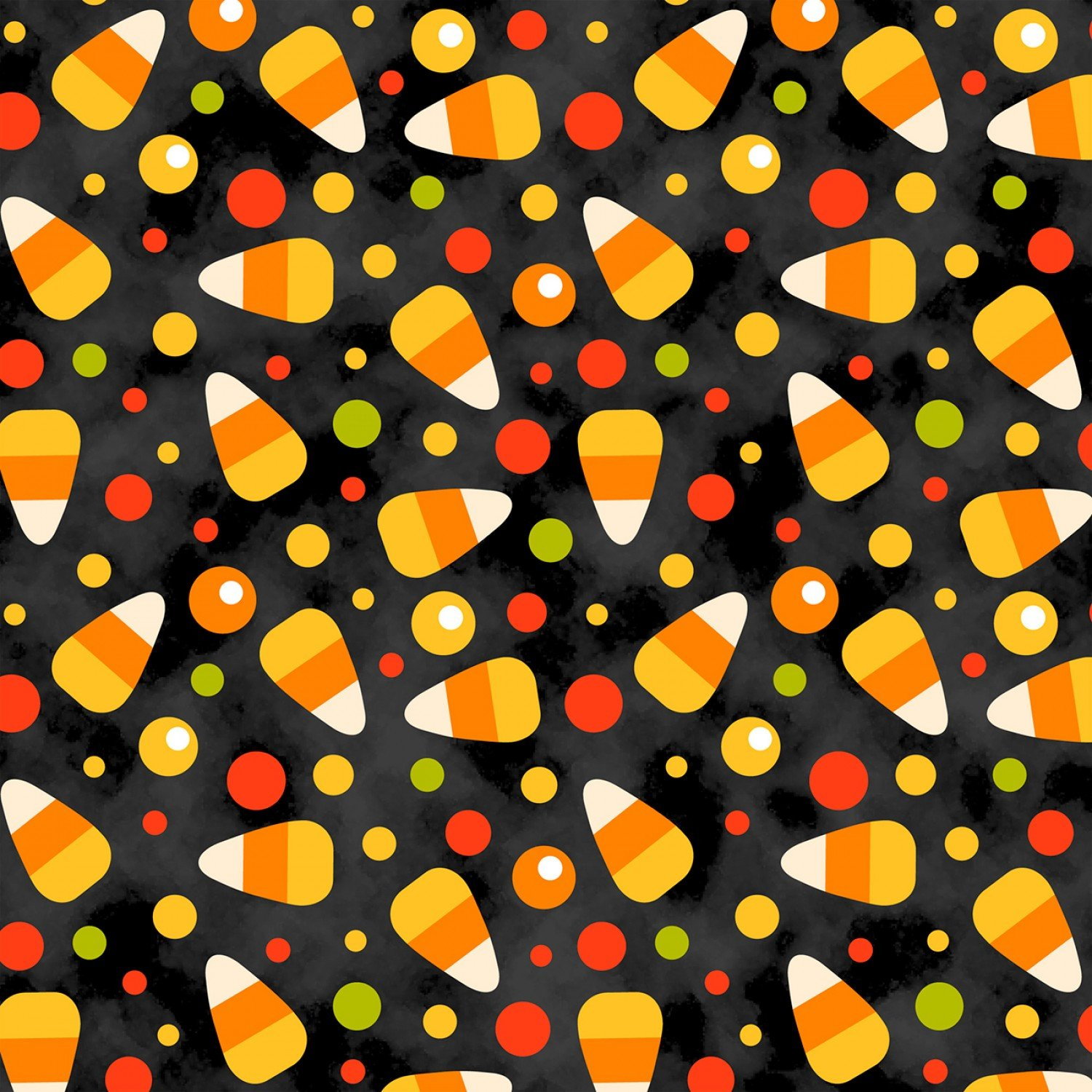 Candy Corn Toss Fabric by David Textiles DT-5162-8C
