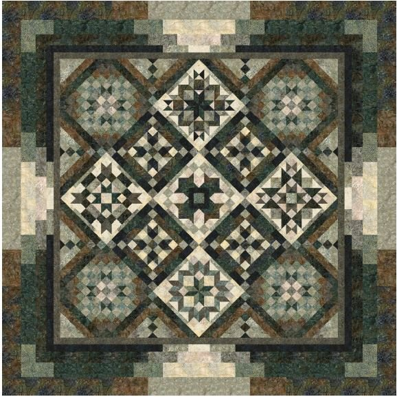 Canyon Block of the Month or all at once fabric kit by Wing and A Prayer and Timeless Treasures