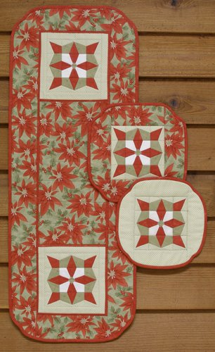 Christams Star Runner / Trivet Candle Mat or Hot Pad : MH-013