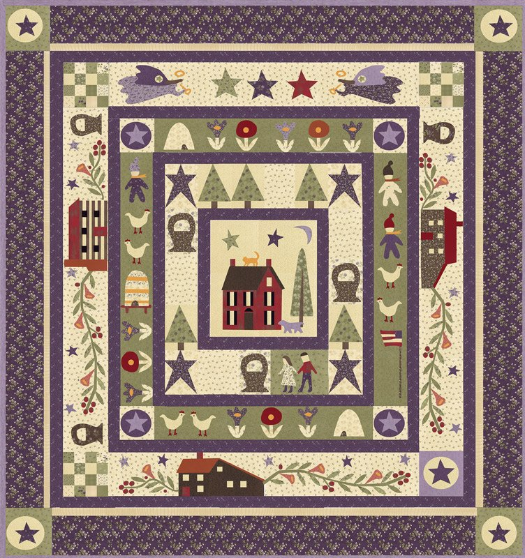 Clover Meadow quilt kit by Jan Patek Quilts for Moda Fabrics KIT2230