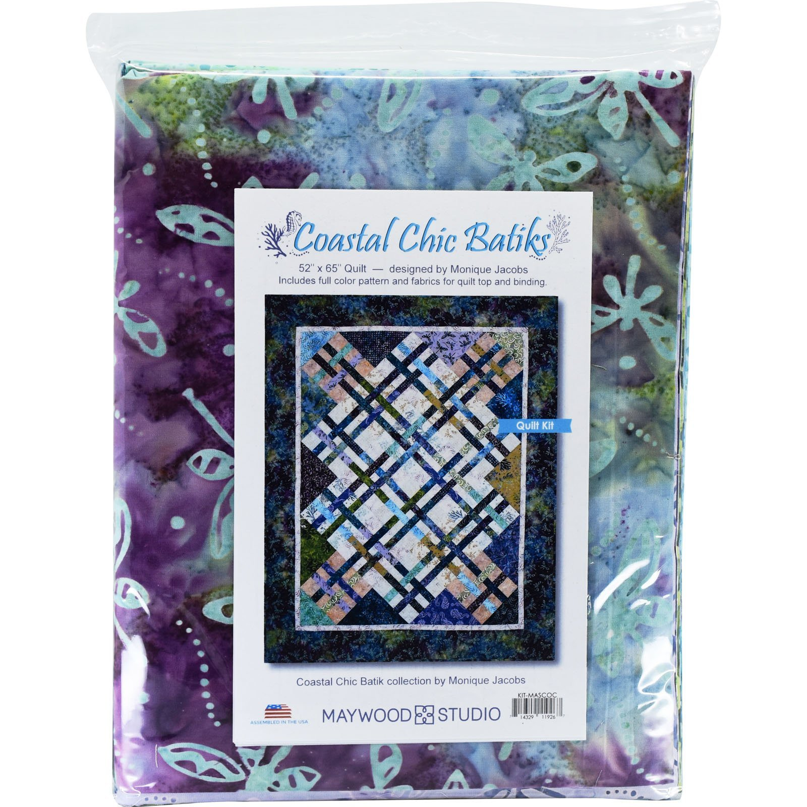 Coastal Chic Batiks, Fabric Kit, Designed by Monique Jacobs : KIT-MASCOC