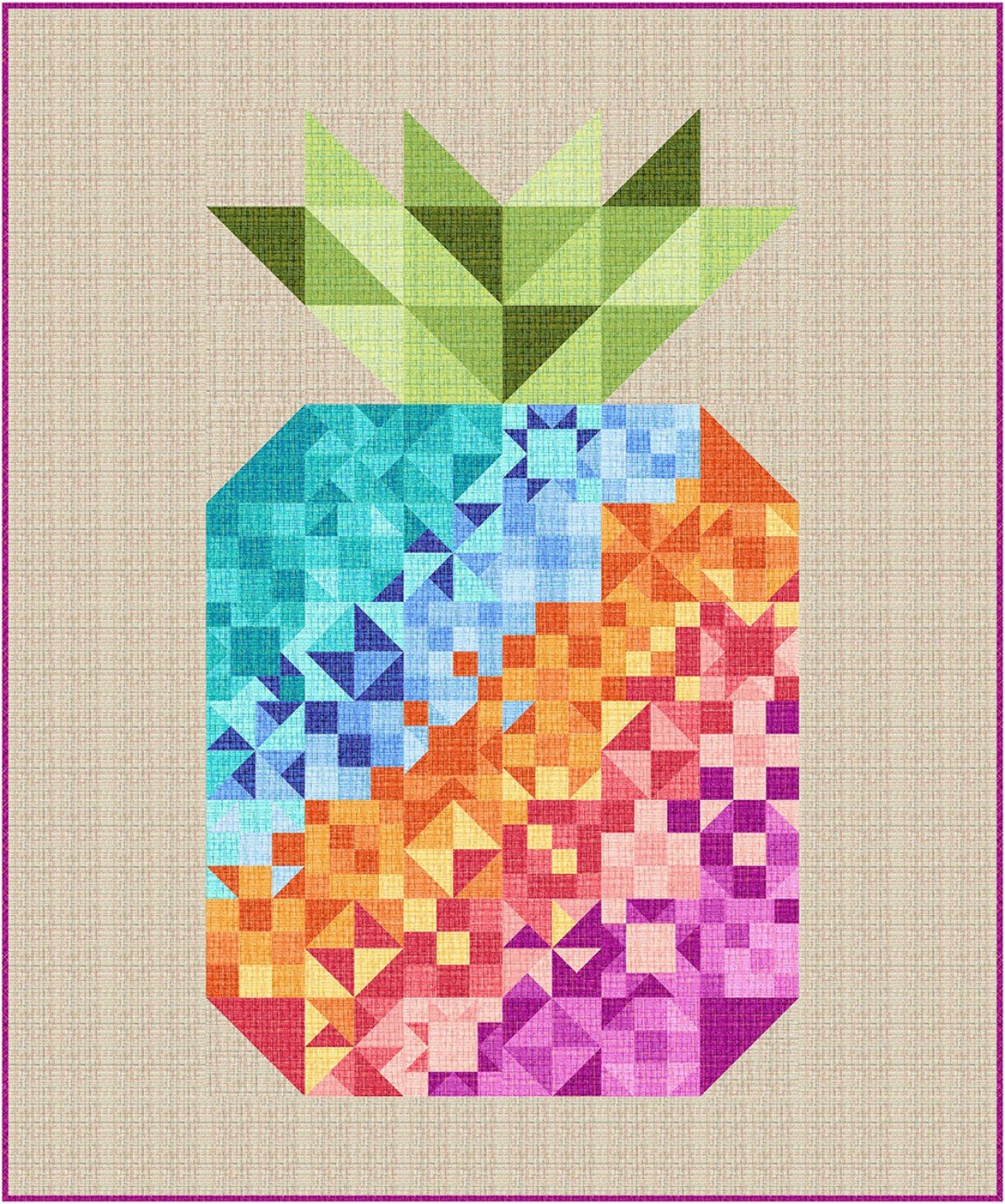 Coco Pineapple Party Quilt Kit by Swirly Girls for Michael Miller Fabrics KIT0263