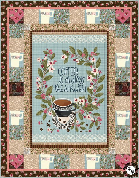 Coffee Is Always the Answer, The Perfect Cup quilt kit by Marsha Evans Moore for Michael Miller Fabrics