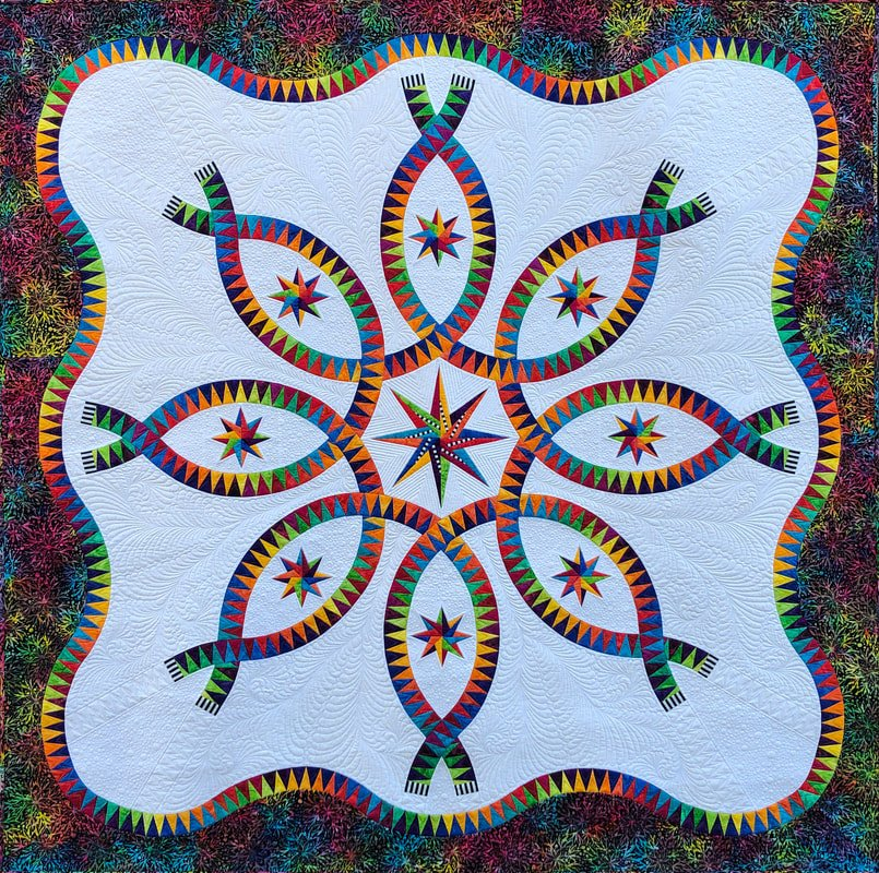 Color Dance fabric quilt kit by Jacqueline de Jonge and BeColourful fabrics BC2005
