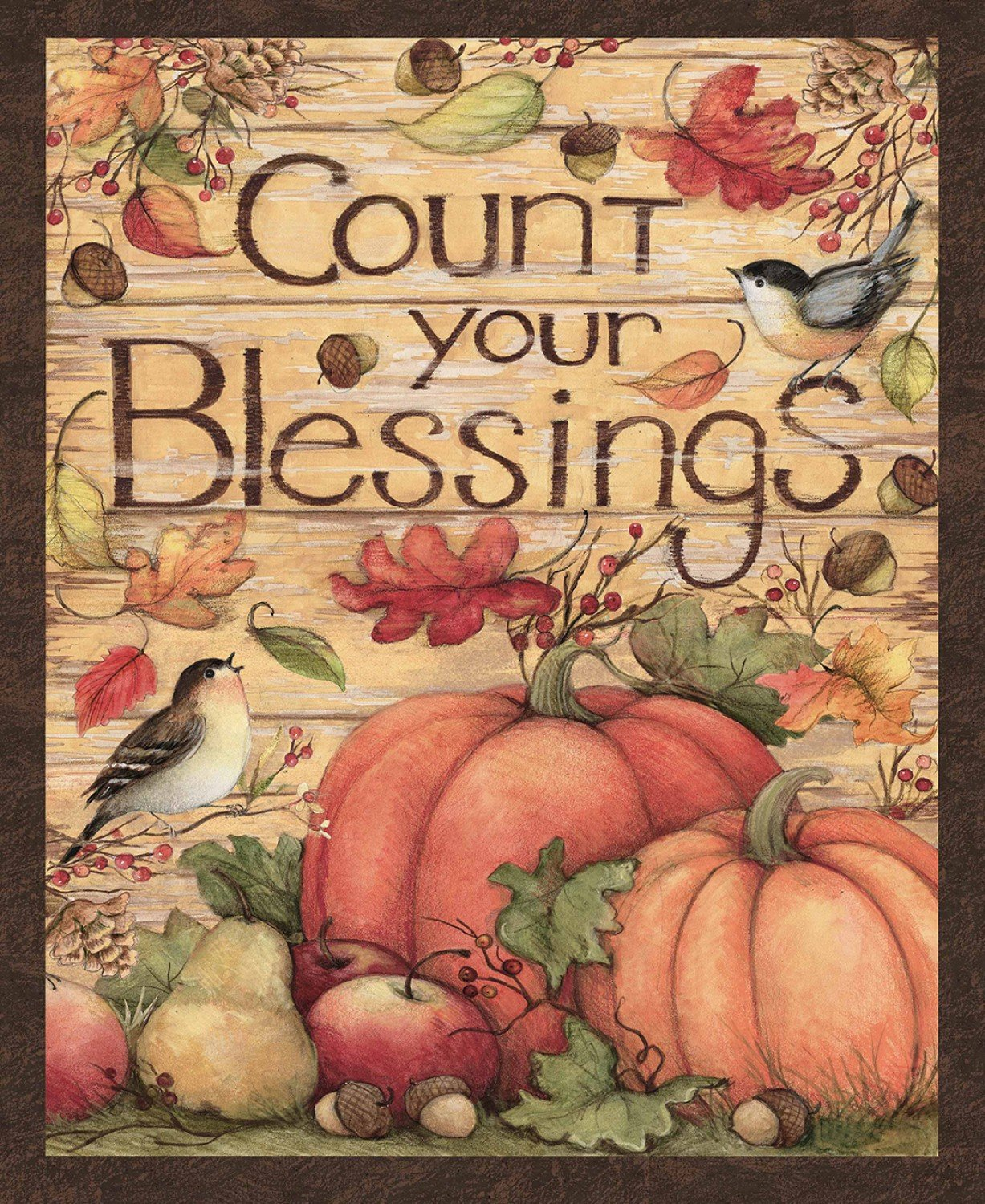 Harvest Count Your Blessings Panel by Susan Wingett for Springs Creative 64482-A620715