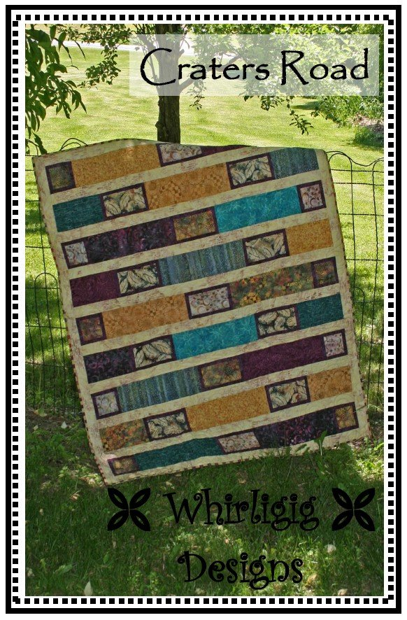 Craters Road quilt pattern by Chris Hoover for Whirligig Designs WD-CR
