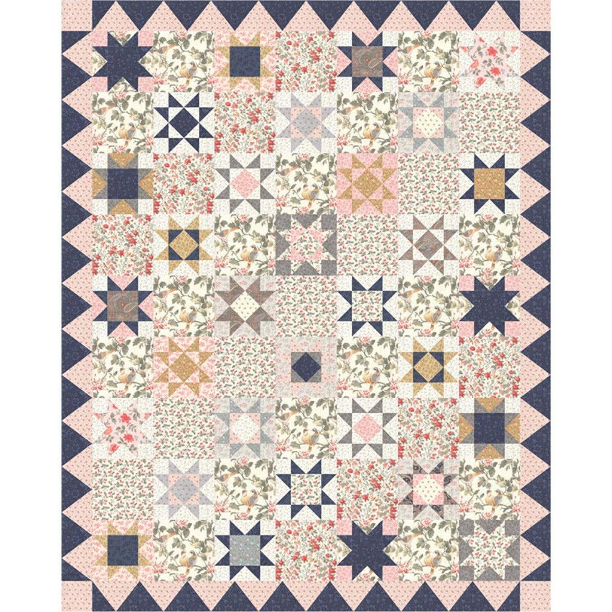 Daybreak fabric quilt kit by 3 Sisters for Moda Fabrics KIT44240