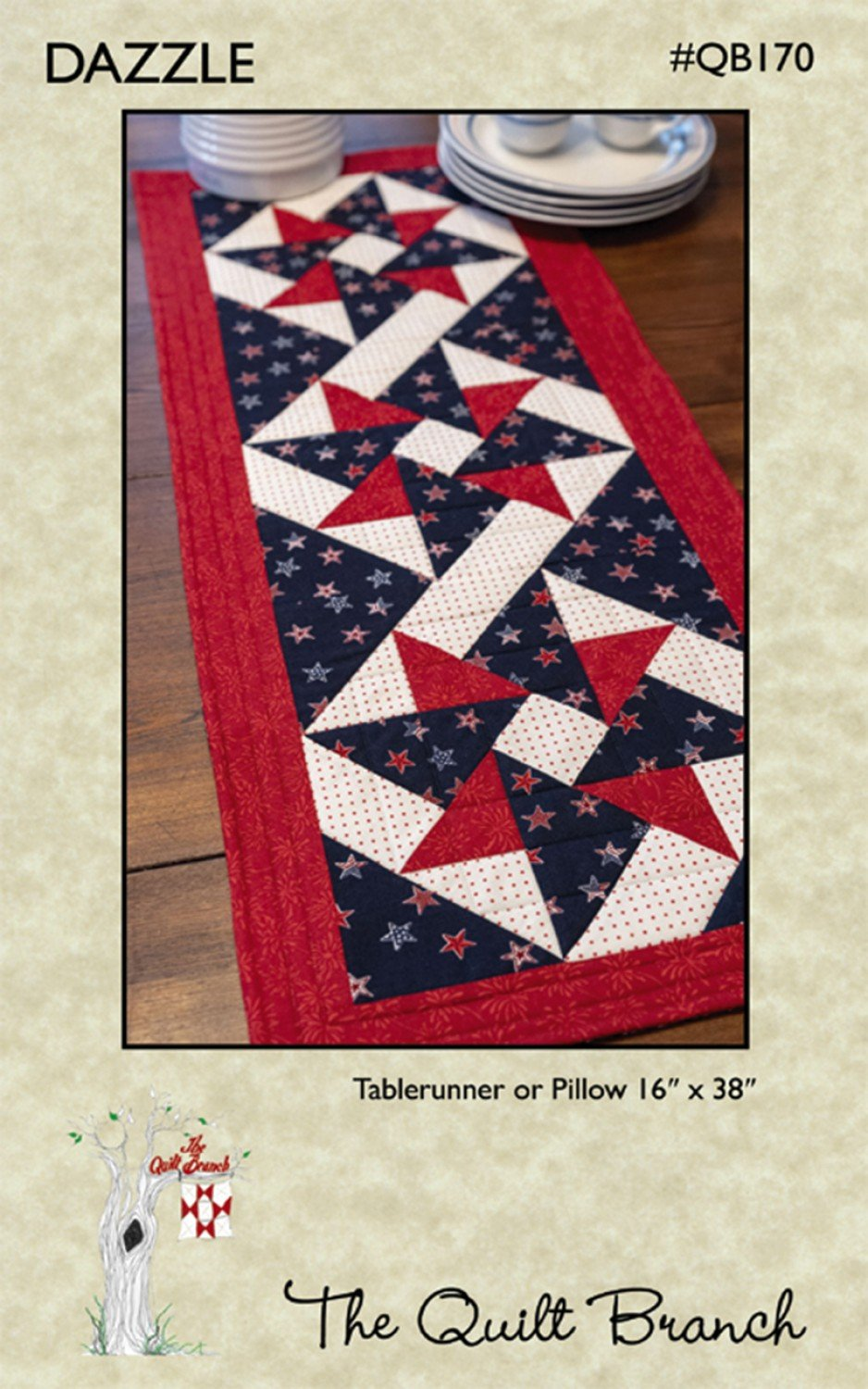 Dazzle table runner pattern by The Quilt Branch QB170