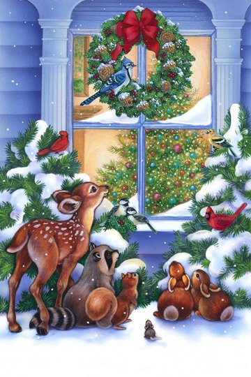 Magic of Christmas, Digital Print 24in Fabric Panel by Elaine Maier for Northcott : DP21699-10