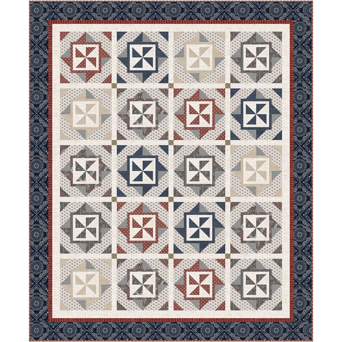 Earl Grey fabric quilt kit by Wendy Sheppard for Windham Fabrics