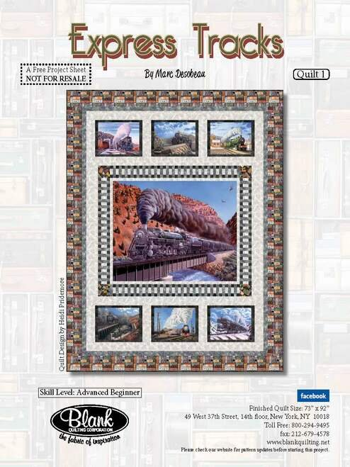 Express Tracks quilt kit by Marc Desobeau for Blank Quilting