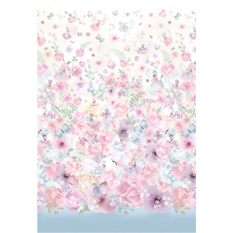 My Heart Flutters, Fairy Dreams Panel by Michael Miller DDC9975-Pink-D