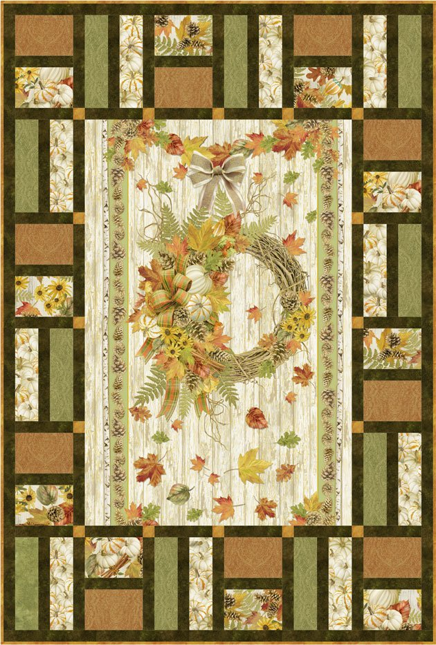 Fall Window fabric kit from the Fall Foliage Collection from Timeless Treasures