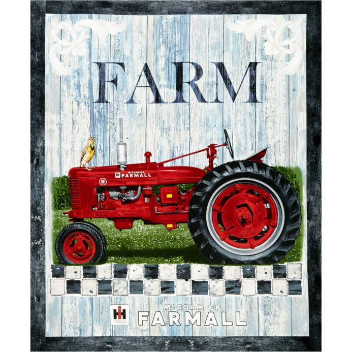 Farmall Hometown Life, Fabric Panel by Sykel Enterprises