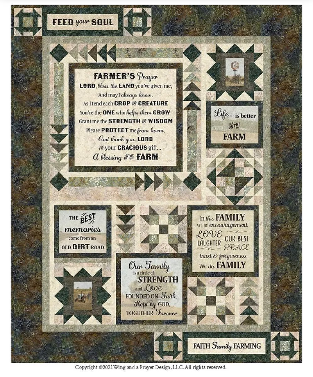 Farmers Prayer quilt kit by Wing and A Prayer for Timeless Treasures