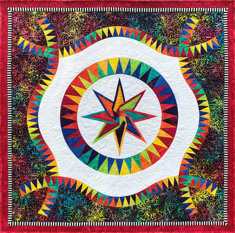 Festival fabric quilt kit by Jacqueline de Jonge and BeColourful  BC2001
