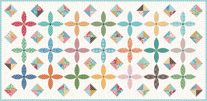 Flea Market Table Runner fabric kit by Lori Holt and Riley Blake Fabrics KTB-18050