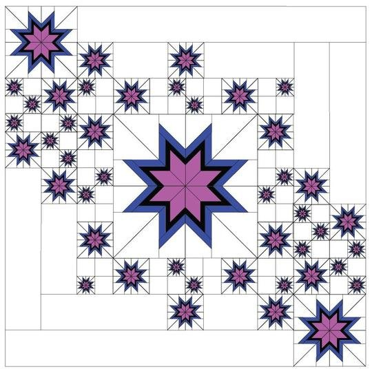 Floating Star'elations Foundation Paper Piecing pattern