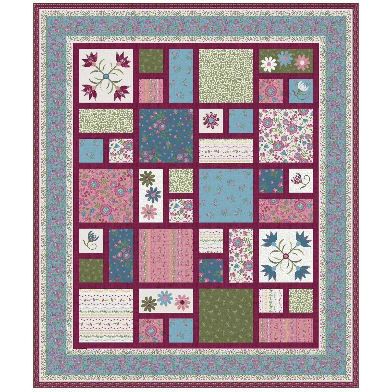 Flower and Vine quilt kit by Monique Jacobs for Maywood Studio KIT-MASFLV