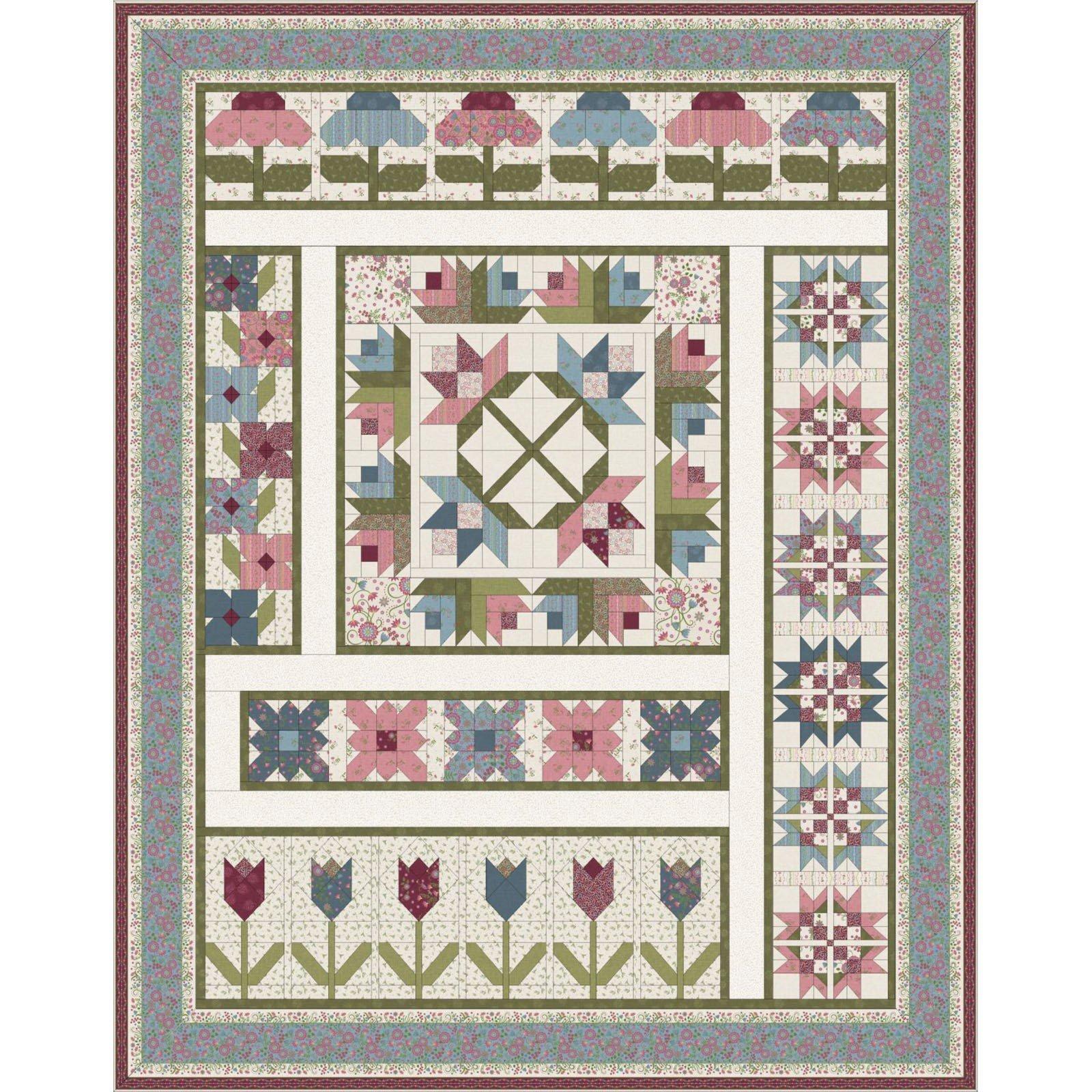 Flower Garden quilt kit by Monique Jacobs for Maywood Studio KIT-MASFLV-BOM