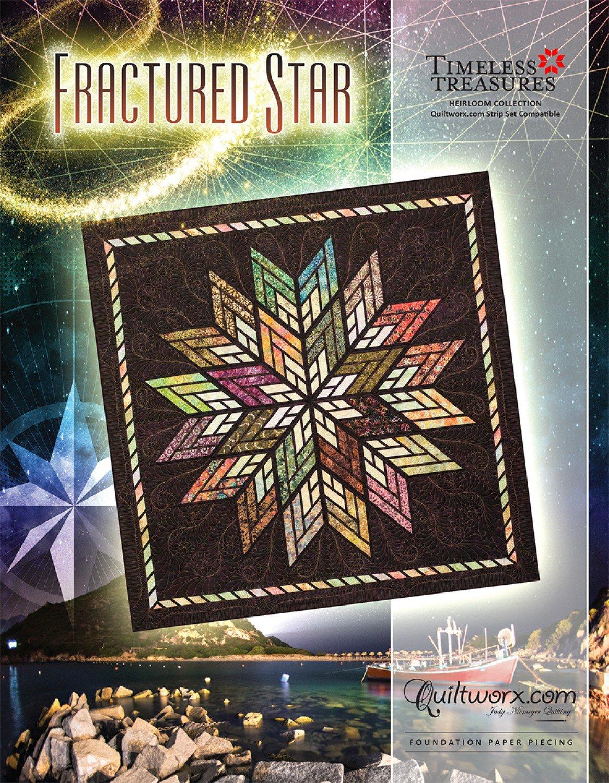 Fractured Star foundation paper piecing pattern by Judy Niemeyer JNQ 00213P1