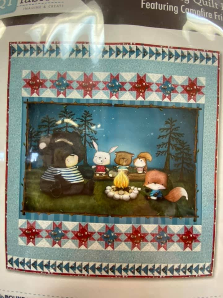 Friendship Song Quilt Kit featuring Campfire Friends fabrics from QT fabrics KIT 3829A