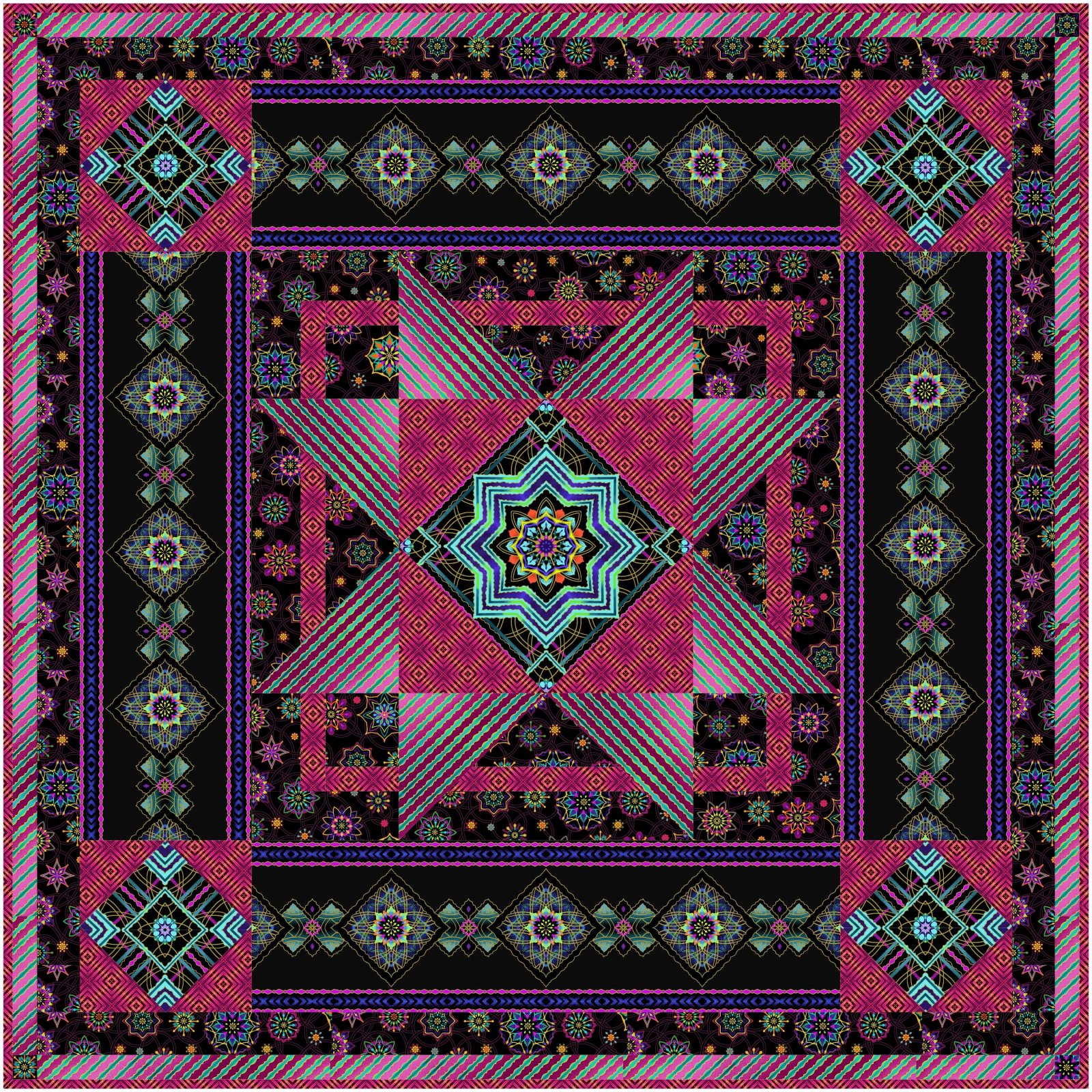 Gypsy Jewel Box quilt kit by Helle-May Designs for Windham Fabrics HMD-130