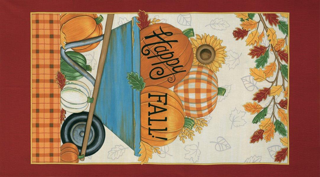 Happy Fall, Fabric Panel by Deb Strain for Moda : 19950-11