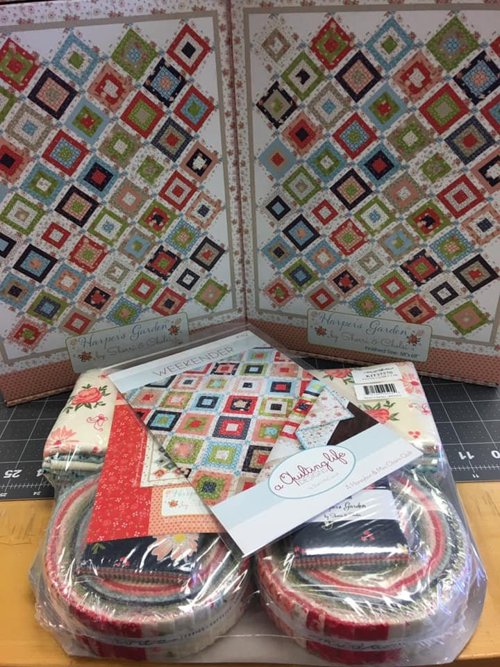 Harper's Garden quilt kit by Sherri and Chelsi for Moda Fabrics KIT37570