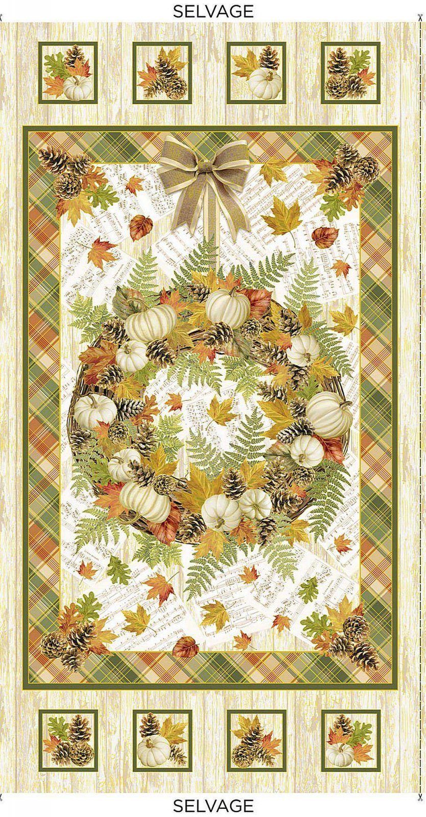 Autumn Symphony Panel by Timeless Treasures CM8520-Cream