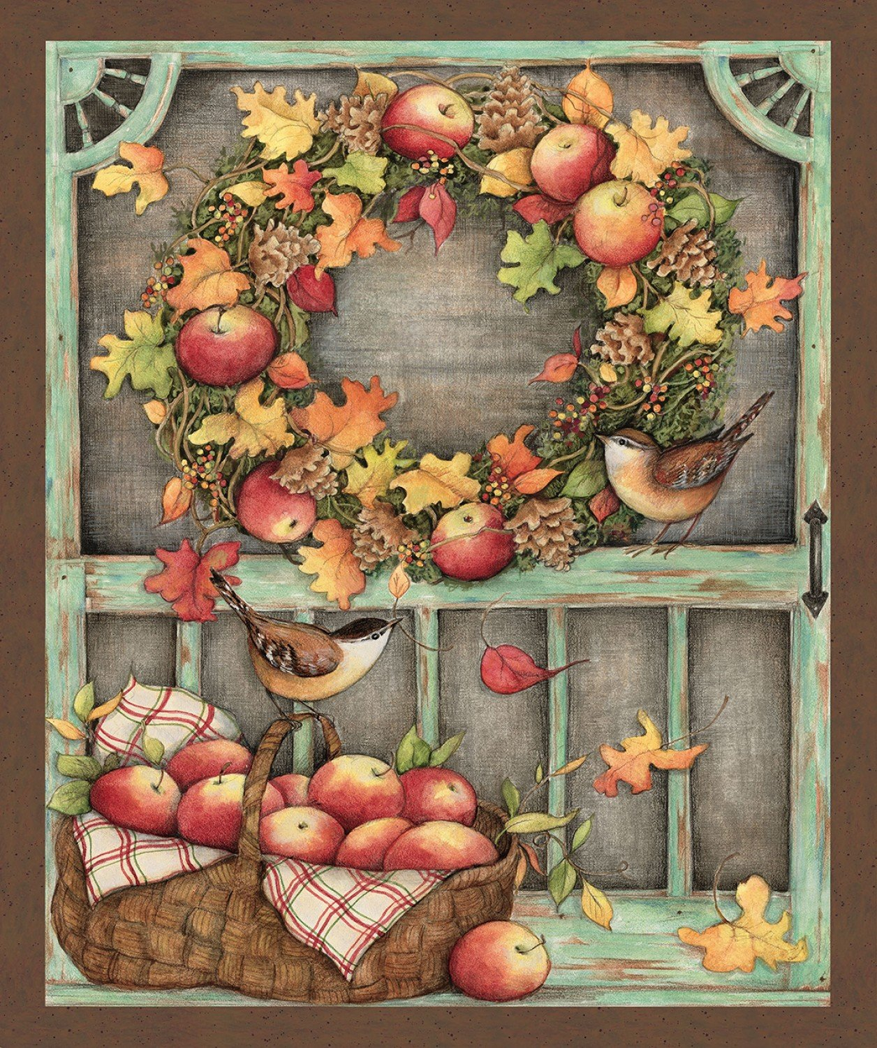Harvest Screen Door Wallhanging by Susan Winget for Springs Creative Collection 68774A620715