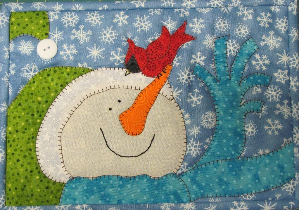 Hello Birdie Mug Rug, Fabric Kit - Pattern by Quilt Doodle Designs : 317-kit