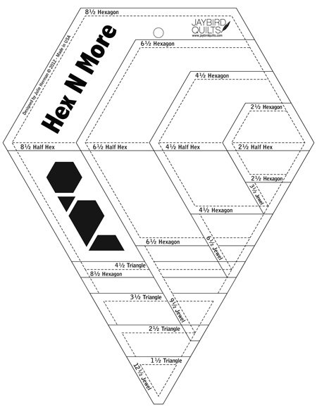 Hex-n-More Ruler by Jaybird Quilts : JBQ-201