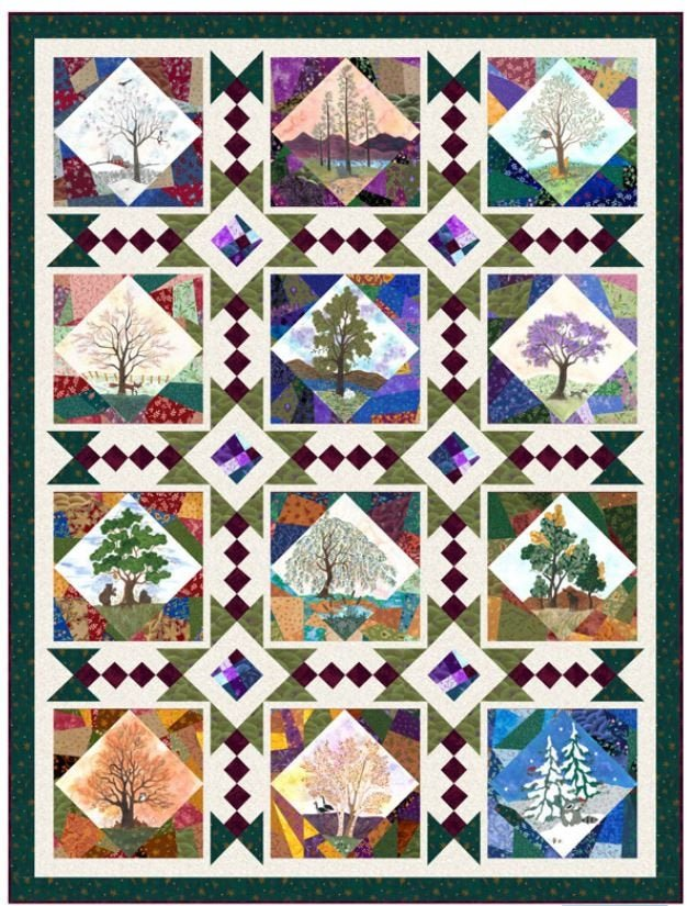 His Majesty the Tree fabric kit, fabrics by QT Fabrics