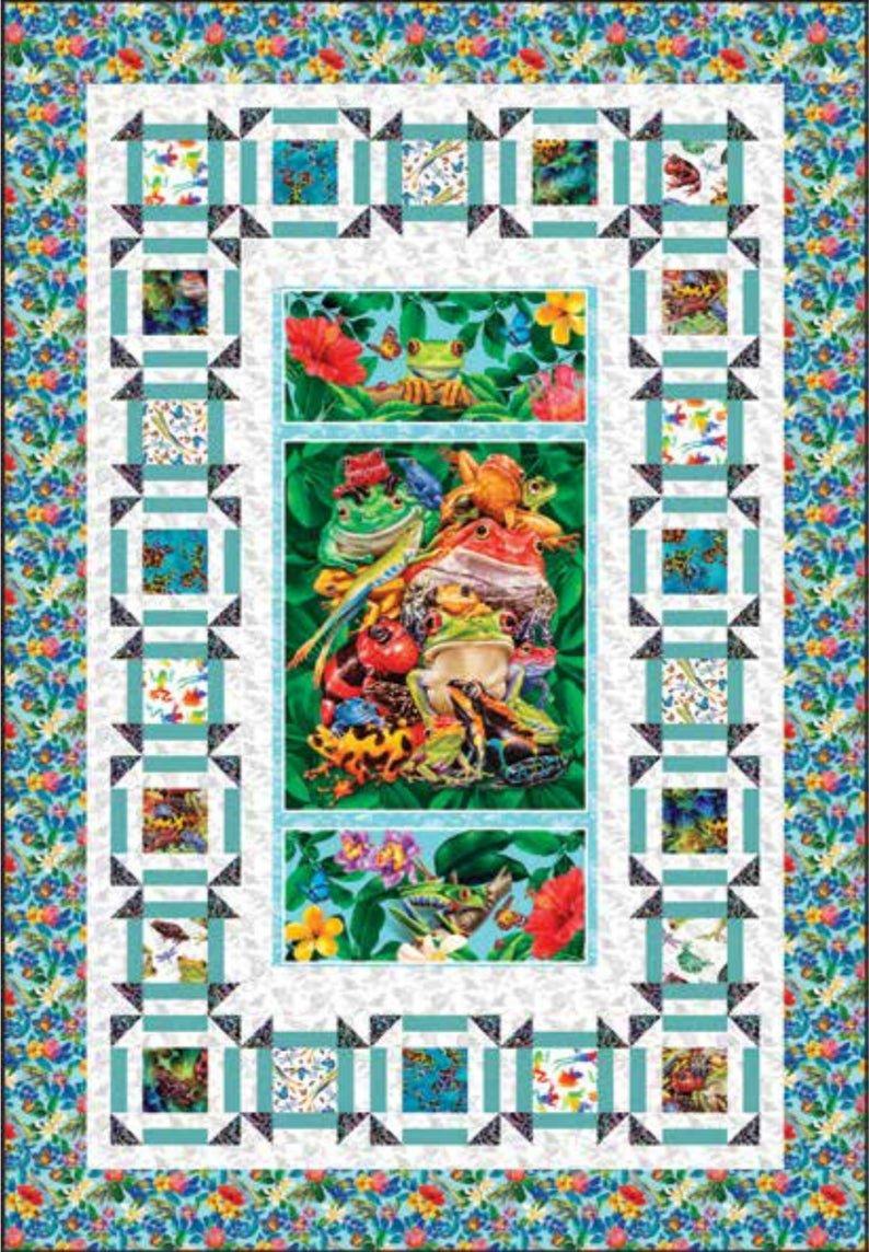 Jewels of the Jungle fabric quilt kit by Lori Anzalone for Studio E Fabrics