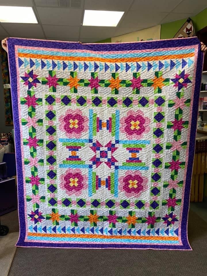 Vintage Jewel  Quilt kit fabrics by Blank Quilting JOTDOT
