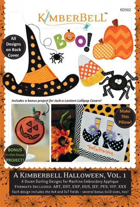 A Kimberbell Halloween, Vol 1 Embroidery CD by Kimberbell Designs : KD502