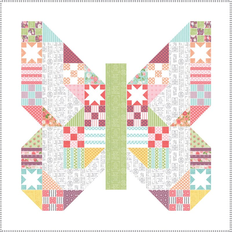 Lollipop Garden Fabric Kit by Lella Boutique and Moda KIT5080
