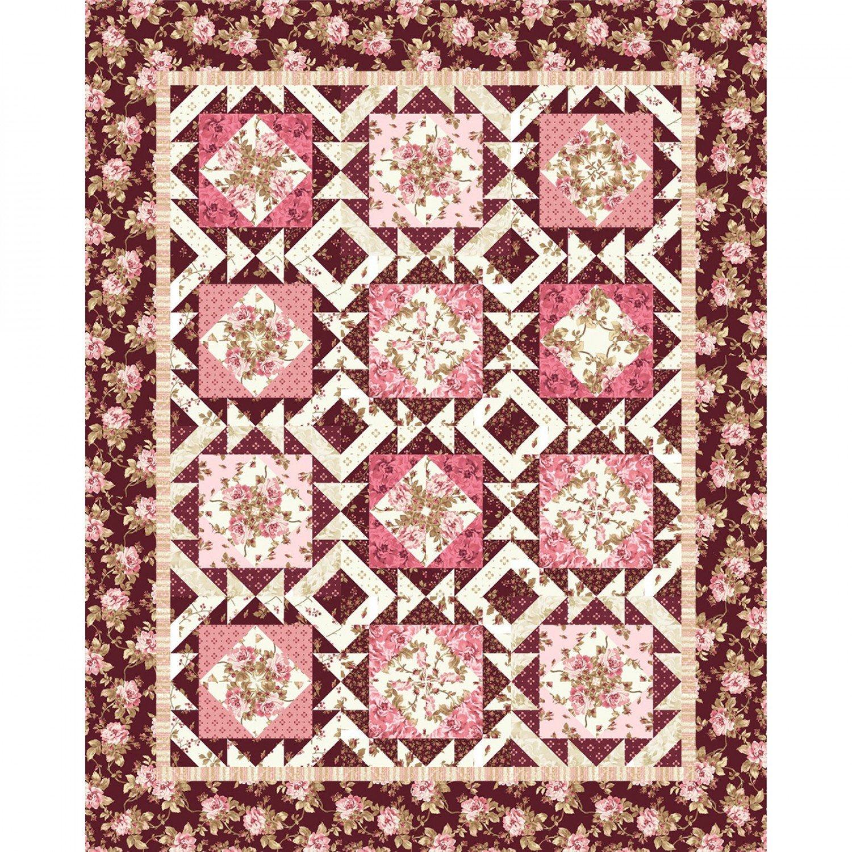 Burgundy and Blush Quilt Kit by Maywood Studios KIT-MASBUB