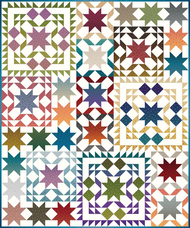 Gem Stones Star Sampler quilt kit by Riley Blake Fabrics KT0138